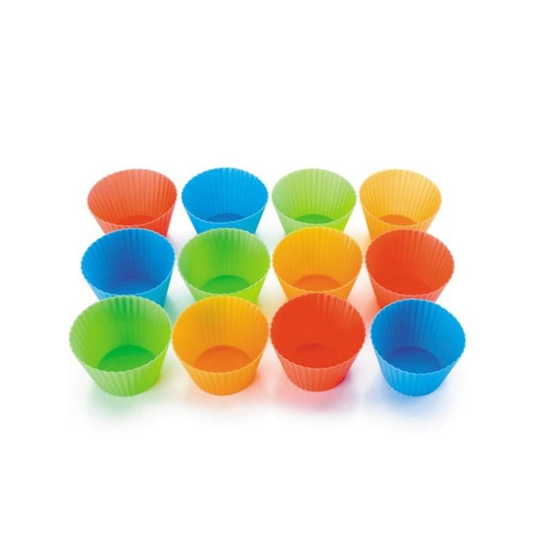 Set 12 moldes de silicona para muffins y magdalenas