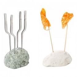 Roca de mármol Porta Brochetas de 100% Chef