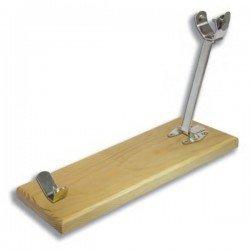 Jamonero plegable de acero y madera