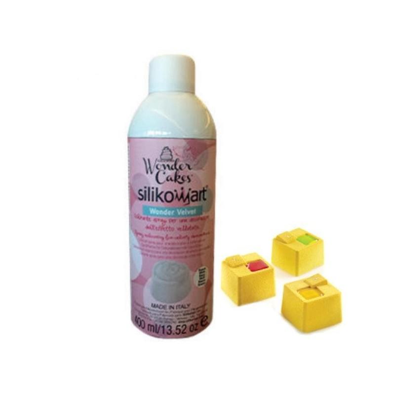 Comprar colorante amarillo velvet en espray de silikomart profesional