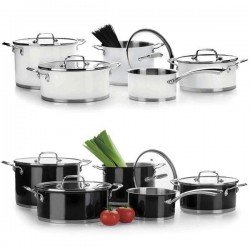 Batería de cocina Black&White de Lacor 5 piezas