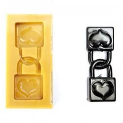 Molde candados del amor SugarFlex de Silikomart