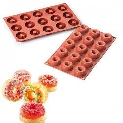 Molde de silicona mini donuts SilikomFlex de Silikomart