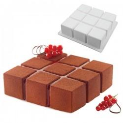 Molde de silicona TortaFlex Cubik de Silikomart