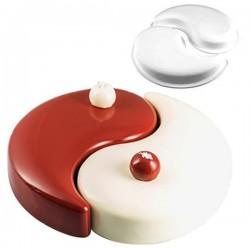 Molde de silicona TortaFlex Yin Yang 250 de Silikomart