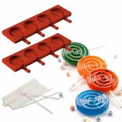Molde EasyPop Lolli pop de Silikomart (2 moldes + 50 sticks)