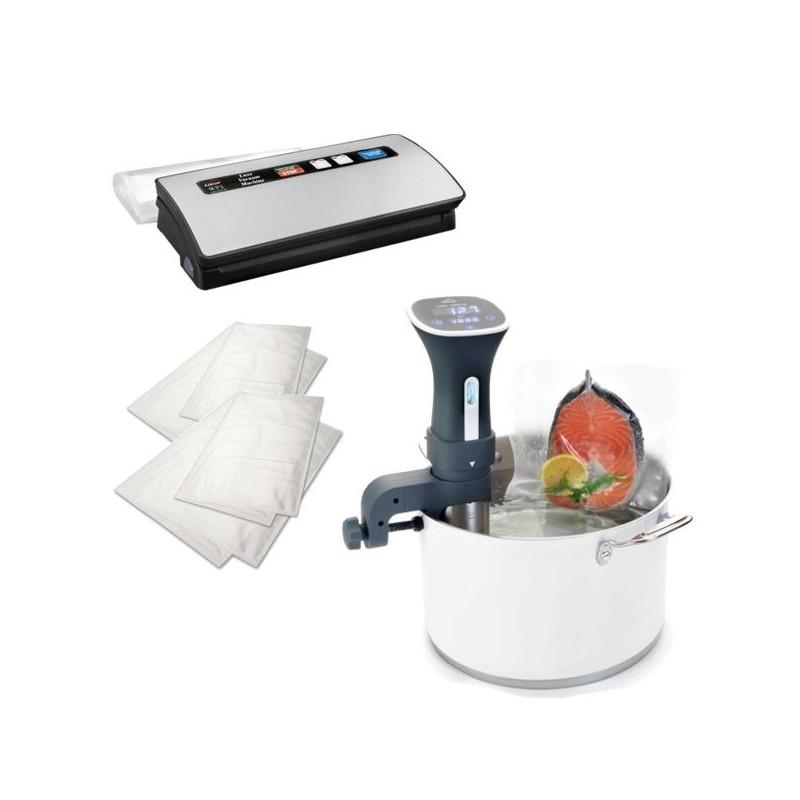 Pack sous vide domestico para cocinar a baja temperatura