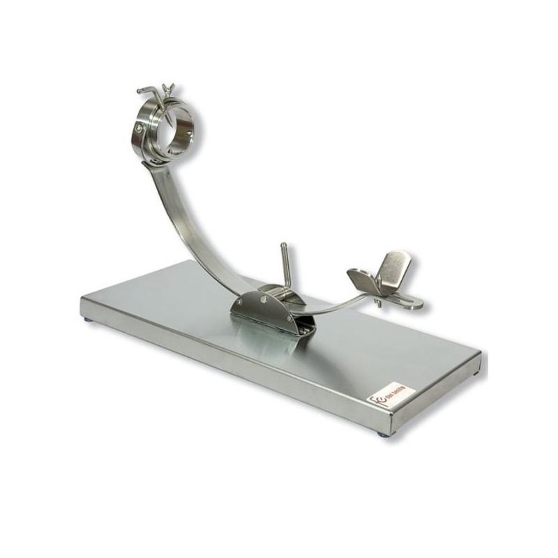 Jamonero giratorio con corredera de acero inoxidable