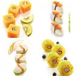 Pack de 4 moldes SushiFlex de Silikomart