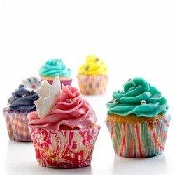 100 capsulas impermeables de papel para cup cakes muffins etc