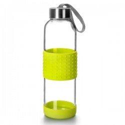 Botella de vidrio y silicona para transportar...