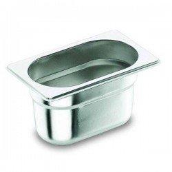 Cubeta Gastronorm 1/4 de acero inoxidable Lacor