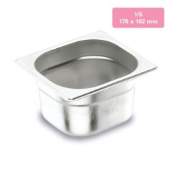 Cubetas Gastronorm 1/6 de acero inox Lacor