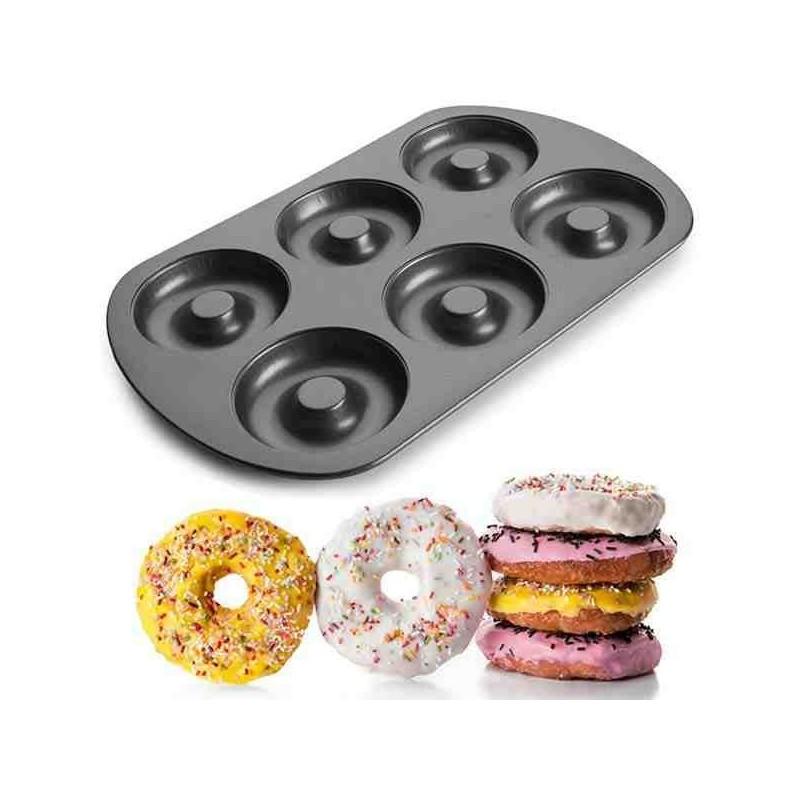 Molde donuts y berlinas 6 cavidades de Ibili