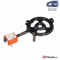 Paellero plano gas butano y propano. Garcima diámetro / aros-30 cm / 2 quemadores