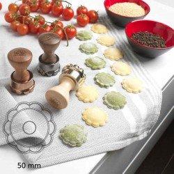 Molde para raviolis circular en flor de Ø50 mm de Marcato