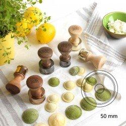 Molde para raviolis circular liso de Ø50 mm de...