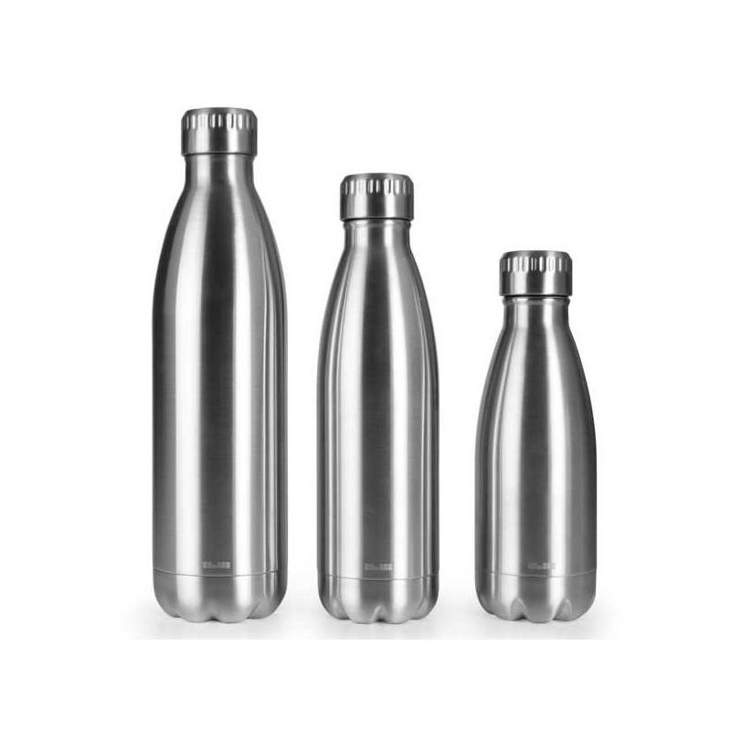 Botella termo de doble pared Satin de acero inox de Ibili