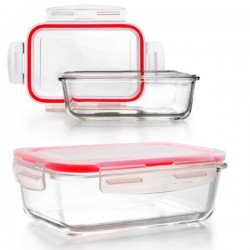 Taper de vidrio rectangular Lunch Away de Ibili