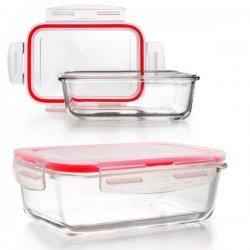 Taper de vidrio rectangular Lunch Away de Ibili