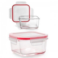 Taper de vidrio cuadrado Lunch Away de Ibili