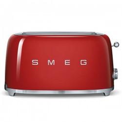 Tostadora retro color rojo 4 rebanadas años 50 de Smeg