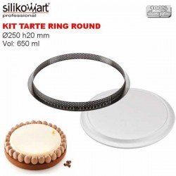Kit Tarte Ring Round Ø250 mm Silikomart Professional