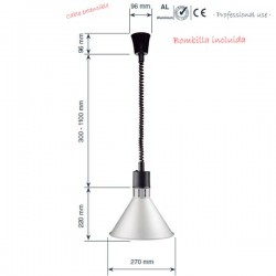 Lámpara de calentamiento extensible cónica de Lacor