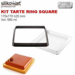 Kit Tarte Ring Square 200x200 mm Silikomart Professional