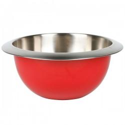 Bol de acero inox exterior color rojo de Equinox