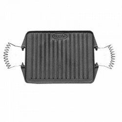 Plancha grill de hierro fundido sin esmalte