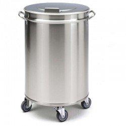 Cubo de acero inox de 50 litros sin pedal de...