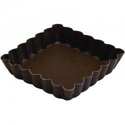 Tartaleta cuadrada rizada 10x10 cm de Gobel