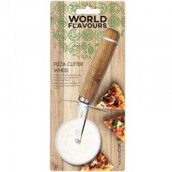 Cortador de pizza con mango madera de Kitchen...