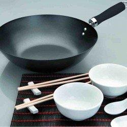 Set wok de 30 cm y accesorios de Ibili
