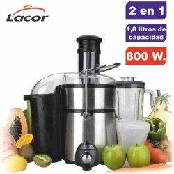 Licuadora + batidora americana 69082 Inox de Lacor 800 W.