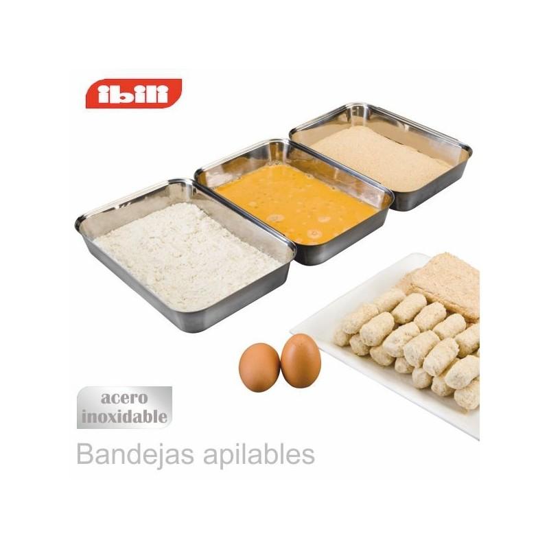 Set 3 bandejas para rebozar de Ibili