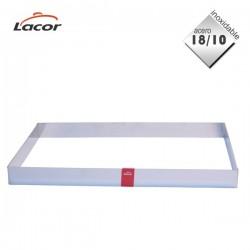 Molde rectangular acero inox 18/10