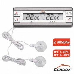Termómetro para nevera / congelador con 2 sondas de Lacor