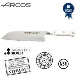 Cuchillo profesional Santoku de la serie Riviera Blanc de Arcos