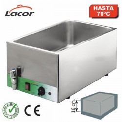 Baño maría profesional para cubetas Gastronorm 69036 de Lacor