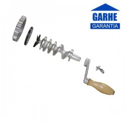 Picadora manual de hierro fundido con embudos para embutidos