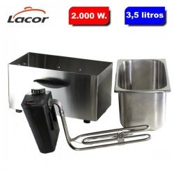 Freidora eléctrica 3.5 litros y 2.000 W. de Lacor 69135