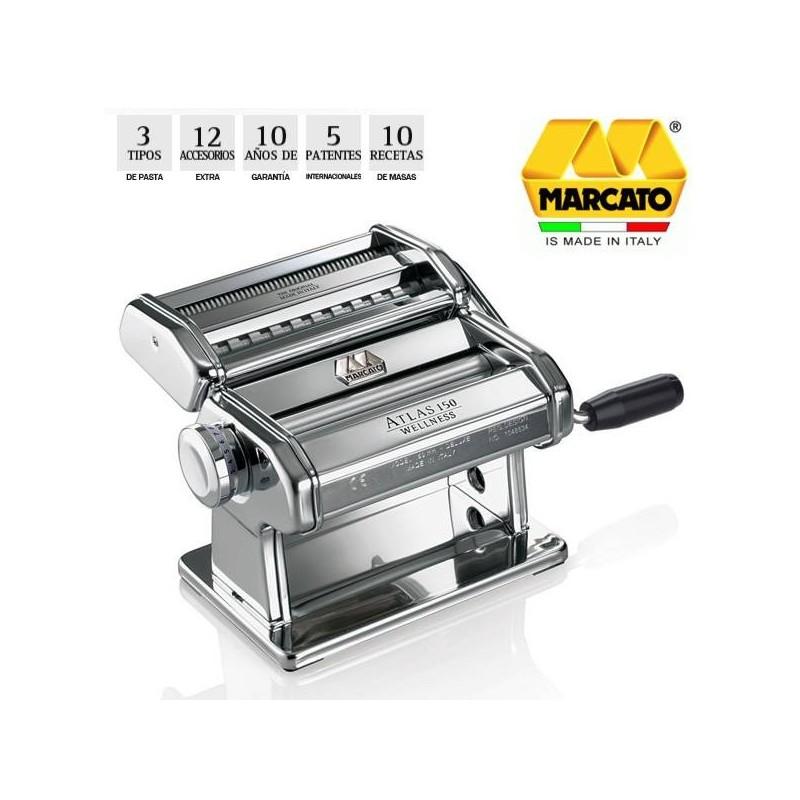 Maquina de pasta fresca Marcato Atlas 150 cromo