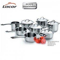 Batería de cocina Basic de Lacor 8 piezas