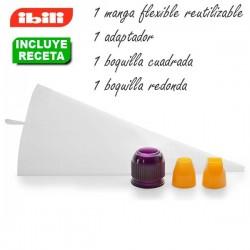 Kit para hacer croquetas cuadradas y redondas de Ibili