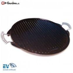 Plancha grill de hierro fundido tamaño-Redonda - 52 cm acabado-Con esmalte
