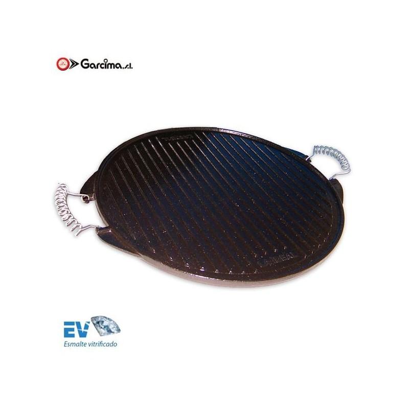 Plancha grill de hierro fundido
