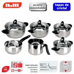 Bateria de cocina Marina de Ibili 6 piezas