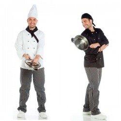 Chaqueta de cocinero para hombre manga larga...